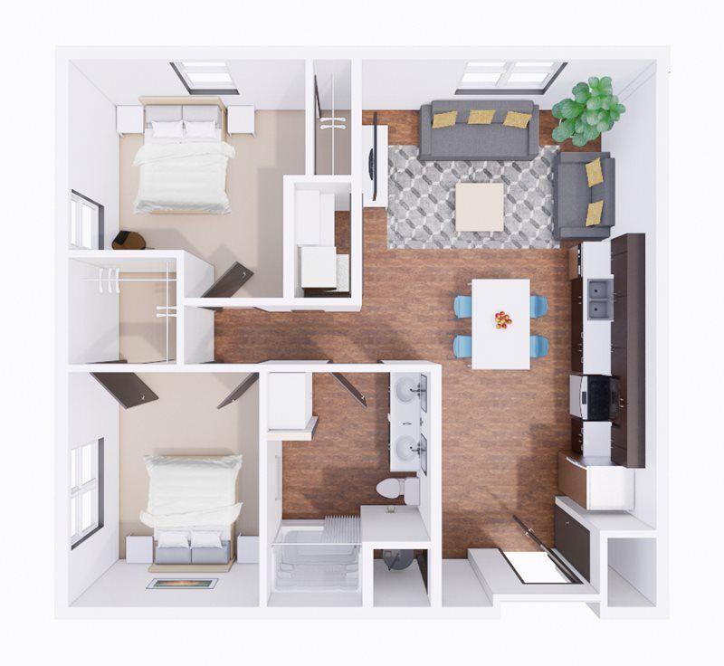 2 Bedroom | 1 Bathroom