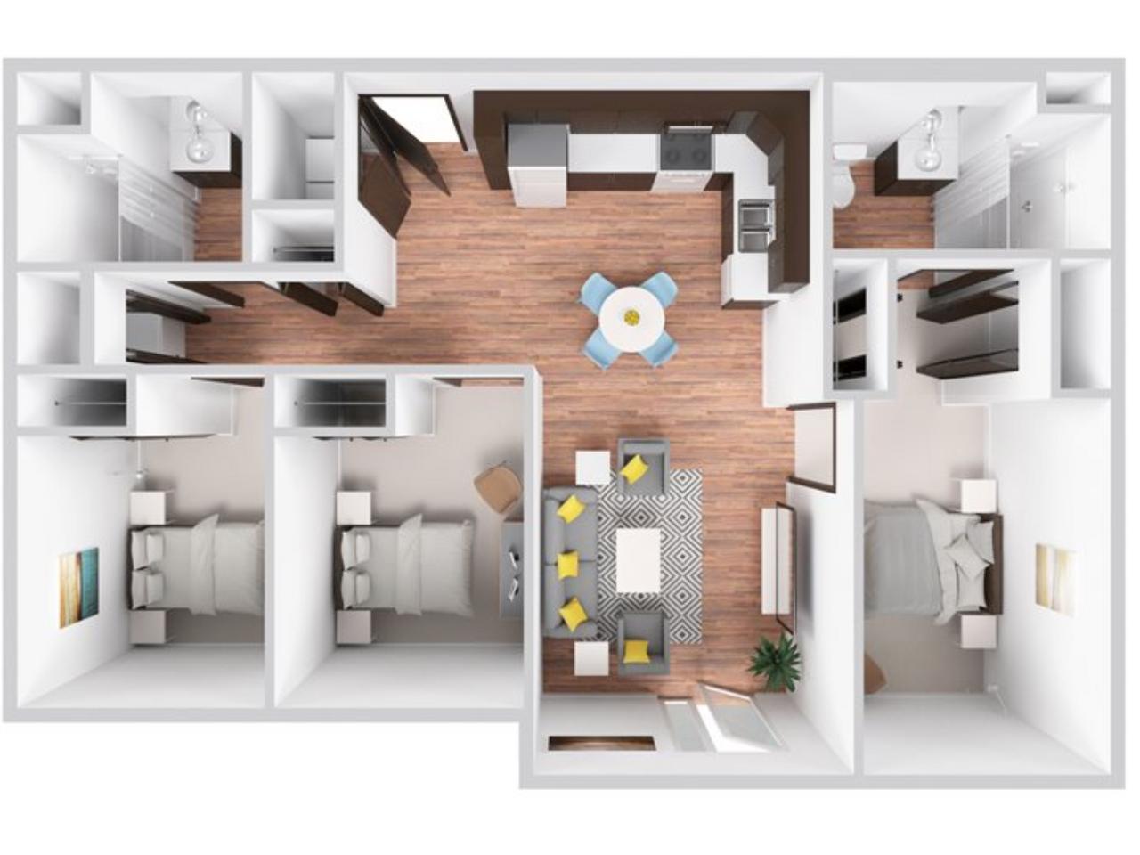 3 Bedroom  | 2 Bathroom